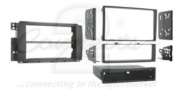 radioblende smart fortwo ab 2007 2 din einbauset car. Black Bedroom Furniture Sets. Home Design Ideas