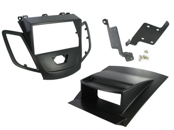 radioblende ford fiesta ab 2008 mit display schwarz 2 din. Black Bedroom Furniture Sets. Home Design Ideas