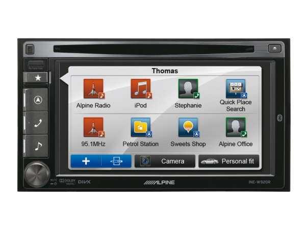 alpine ine w990r autoradio mit navigation cd usb aux. Black Bedroom Furniture Sets. Home Design Ideas